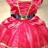 Платье новогоднее для девочки 2-3года замеры на фото