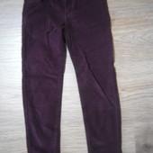 Новые! Фирменные мягкие джинсы-бархат, стрейчевые,, рост 116. Цвет гнилая вишня.