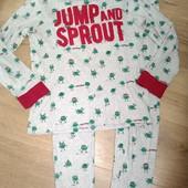 Пижама хлопок на 11-12лет замеры на фото