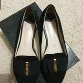 Туфли балетки нат. замша от Veron размер 40, стелька 26см