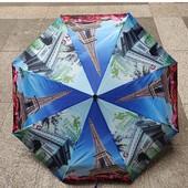 Женский Зонт полный автомат (анти ветер) 3 сложения 8 спиц 4 видов