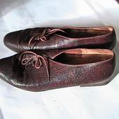 распродажа!! отличные кожаные туфли 7(40-41) Gabor Австрия стельки 26,5 см