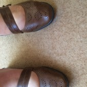Туфли коричневые 42,5 р. 27,5 см, Caravelle на широку ногу. в идеале