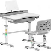 комплект еvo-кids еvo-17 (стул+стол+полка) белый-серый (еvo-17 G)