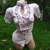 Нежная розовая блузка