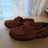 Отличные туфли в школу, полностью натуральные, 20 см стелька