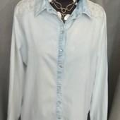 Denim Co.рубашка с кружевом и интересной спиной