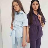 """Ваші дівчатка будуть самі стильні) Шикарні костюми""""тройка"""" відмінної якості! Електрик і баклажан"""