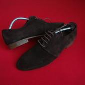 Туфли Zara оригинал натур замша 44 размер 28.7 см