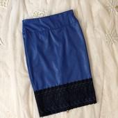 Стильні юбки карандаш Екошкіра з кружевом Ззаду на замочку Останні Якість кольори поспішіть