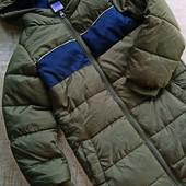 Теплая куртка на 3.4.5 лет удлиненная на худого мальчика