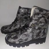 Стильные кожаные ботинки 38, 39 р