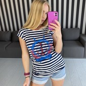 Женская коттоновая футболка, размер s
