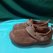 Коричневые замшевые Crocs, разм. J1 (20,5 см внутри). Сост. хорошее!