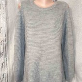 Стильный удлиненный свитер с оригинальными рукавами