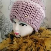 Шикарные теплые шапочки 7 Цветов Качество Премиум Класса