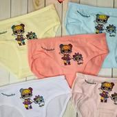 Трусики для девочек lol 4-5 лет, комплект от 2 шт, микс