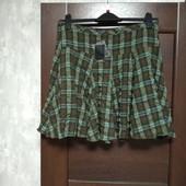Фирменная новая красивая юбка р.14 полиэстер вискоза эластан