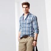 Рубашка из хлопка Tchibo Германия, размер ворот 41/42 L