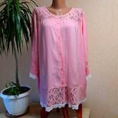 Акція❤❤❤Шикарна блуза з мереживом на королівські форми від H&M,! З біркою