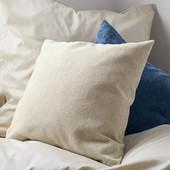 Подушка с декоративной наволочкой из пряжи, бежевый, tukan, Германия, 50х50