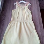 Стоп!!фирменное удобное яркое натуральное стильное красивое платье с вышивкой от h&m