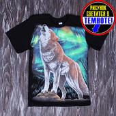 Футболка волк сияние размеры 122-146