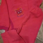 """Тёплый костюм мягкая махра на флисе""""котик""""свитшот+штаны,дев.5-6л, ярк.цвет,карман.ставьте блиц!❤"""