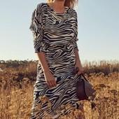 ☘ Сукня міді в дизайні зебри від Tchibo (Німеччина), розміри наші: 42-44 (36 евро)