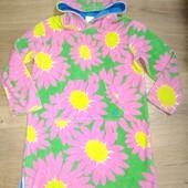 Махровое платье для дома 7-8лет замеры на фото