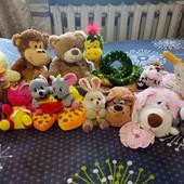 Лот 13 мягких игрушек!!!