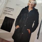 Демисезонное, удлиненная куртка esmara, черная, размер s,