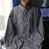 Мужская рубашка, р.4XL/5XL( ворот 49/50)