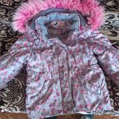 Куртка на 5-6 лет деми, зима для двора