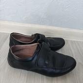 Туфли кожаные в школу стелька 21,5 см