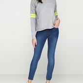 ❣Темно-синие демисезонные зауженные джинсы Guiducci