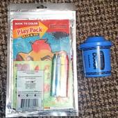 Набір розфарбовка та олівці та пластилін синій