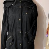 Чёрная куртка-парка Деми M