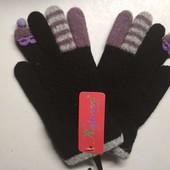 Перчатки Очки деми чёрные 4-6 лет