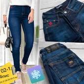 """Мега-хит❣На флисе❗жен.тёплые джинсы""""Joliot denim"""", р.25.стрейч,зауж.,выс.посадка,супер❣"""