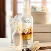 Освежающий лосьон-спрей для тела Ароматная ваниль и сандаловое дерево Avon Naturals эйвон