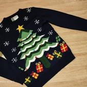 Классный свитер с елочкой и колокольчиками Cedar wood state M