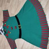Новое платье новогоднее с шапочкой и колокольчиками от Primark L