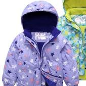 Новинка! Роскошная лавандовая зимняя термо куртка в звездочку размер на выбор