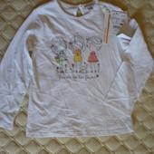 Красивый реглан, кофточка для девочки Fagottino от OVS kids Италия, размер 98 см, 30-36 мес.