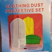 Поліетиленовий чехол для одягу прозрачний, на замочку.