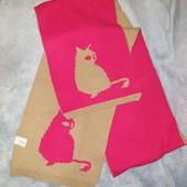 Новый длинный, широкий, двойной шарф для девочки, 24*180