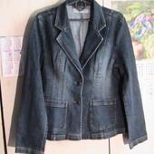 отличный джинсовый пиджак 14 евро джинс мягкий приятный