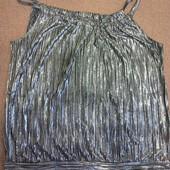 Блестящая нарядная кофточка на брительках черный металлик