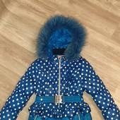 Зимняя куртка девочке на 3-5 лет